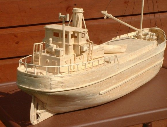 marine modelling international - Matchstick Model Boat of Clyde Puffer Based on Harold A ...