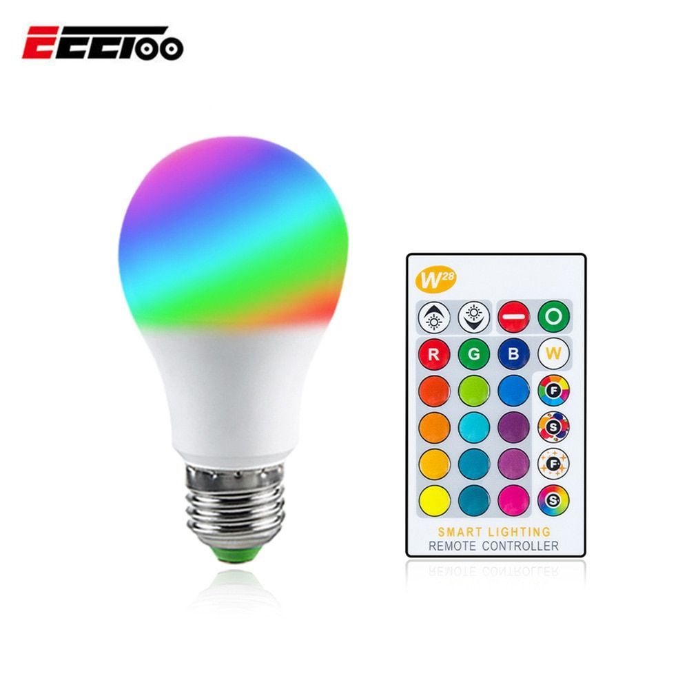 Universe Of Goods Buy Dimmable E27 Led Bulb With Remote Control 5w 10w 15w Rgb Rgbw Rgbww Color Change 85 265v Sma Smart Lighting Cool Things To Buy E27 Led