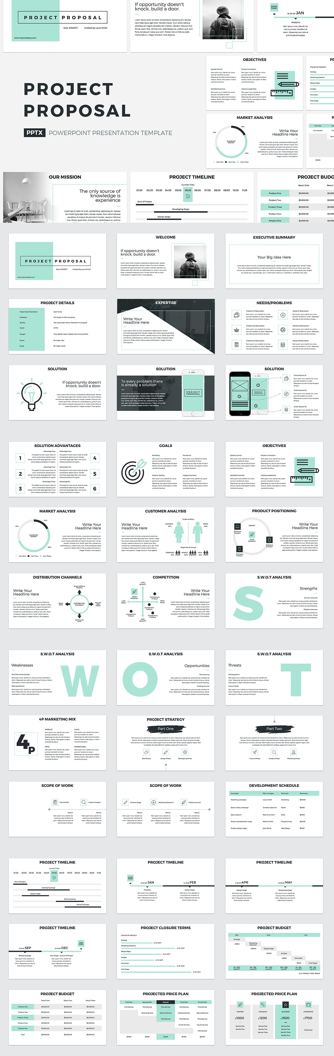 Project Proposal Powerpoint Template Pdf  Presentation Templates
