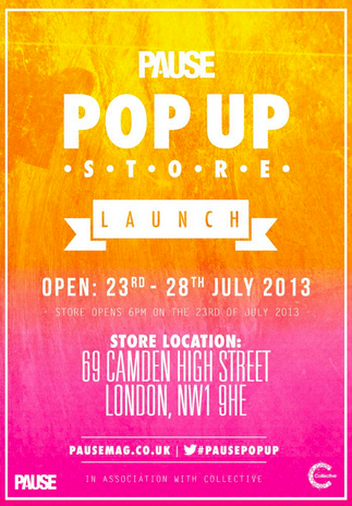Who Is Heading To The Pause Mag Pop Up Store Launch Tomorrow Evening