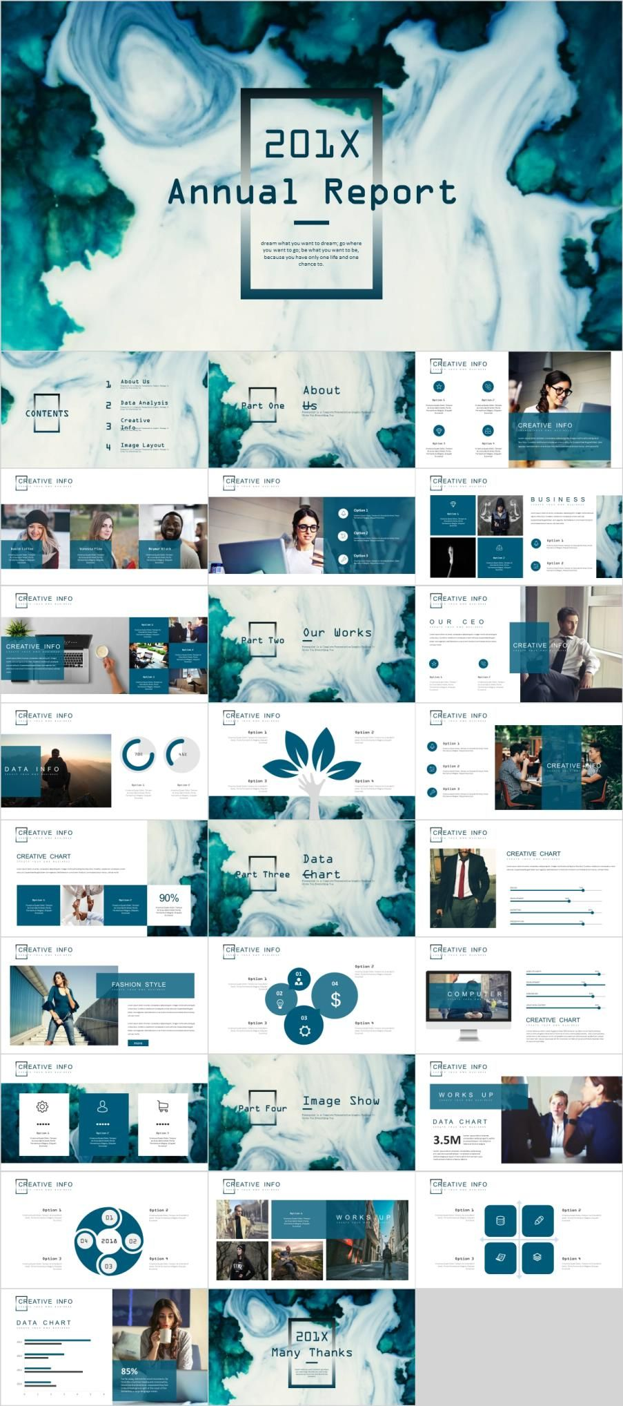 27  best annual charts powerpoint template