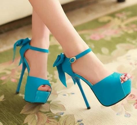Sandália Plataforma Azul Bebê / jahsaude