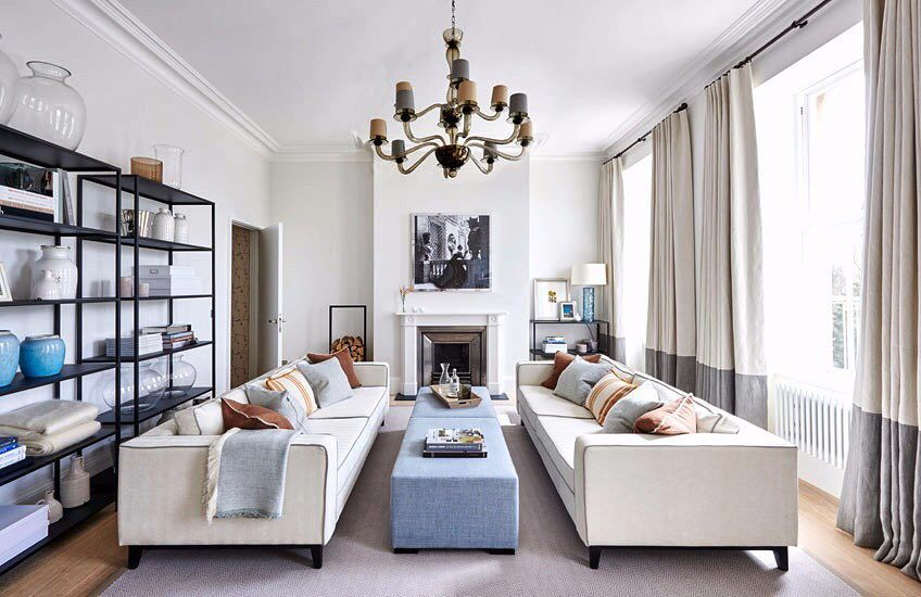 Have you considered a symmetrical living room plan like