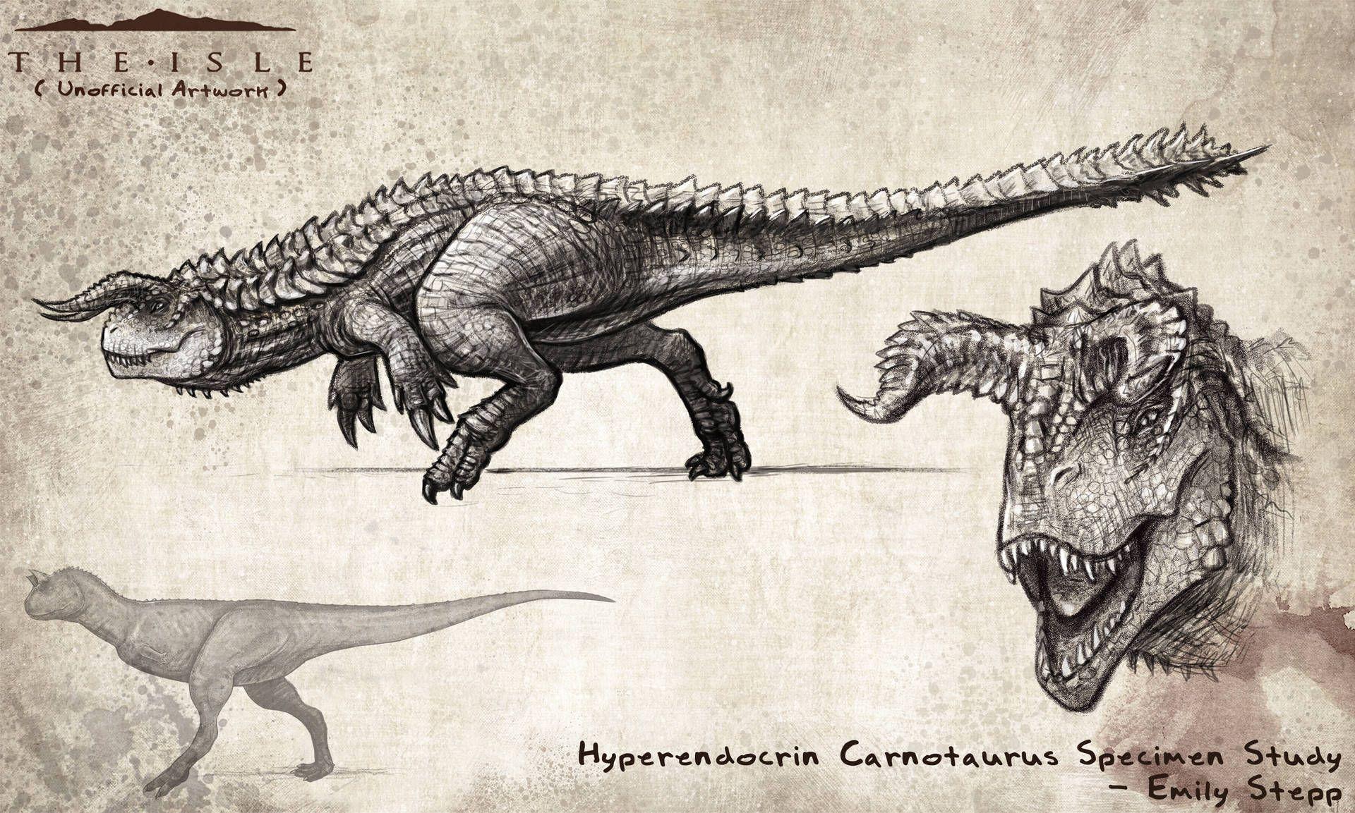 Hyperendocrin Carnotaurus Study by EmilyStepp #dinosaurart