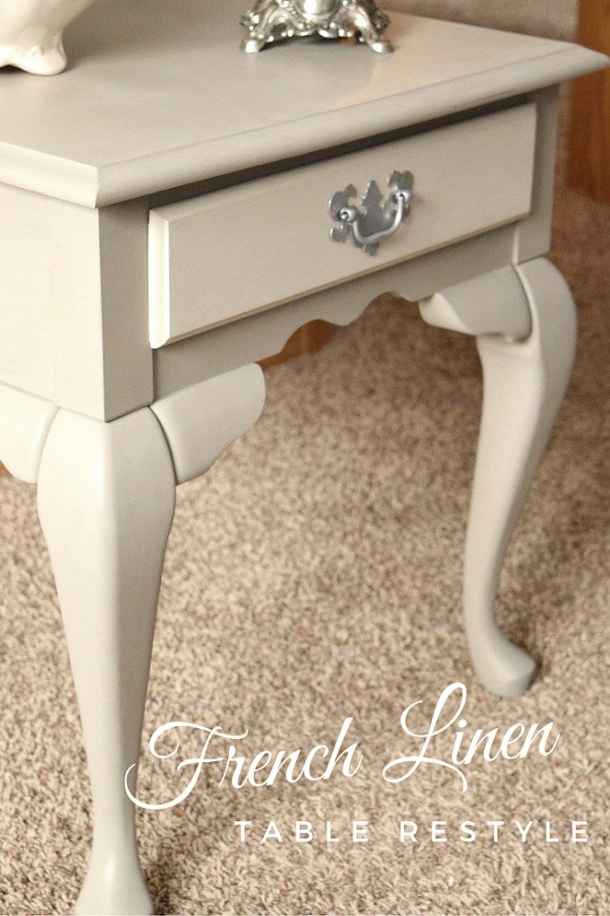 French Linen Table Restyle | Pintura vintage, Muebles auxiliares y ...