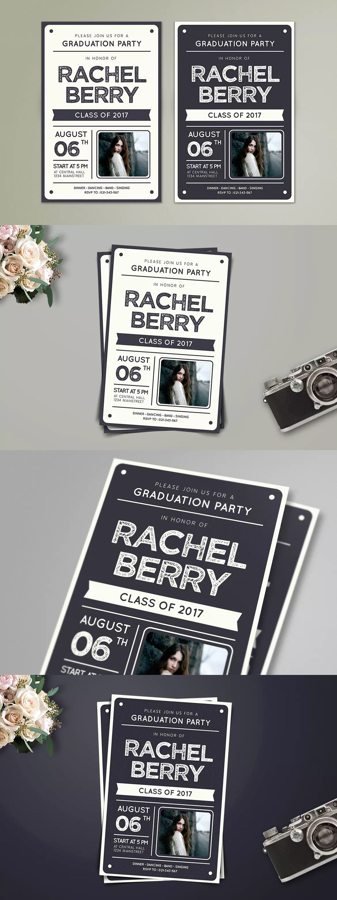 Graduation Invitation Template AI, PSD | Invitation Card Templates ...