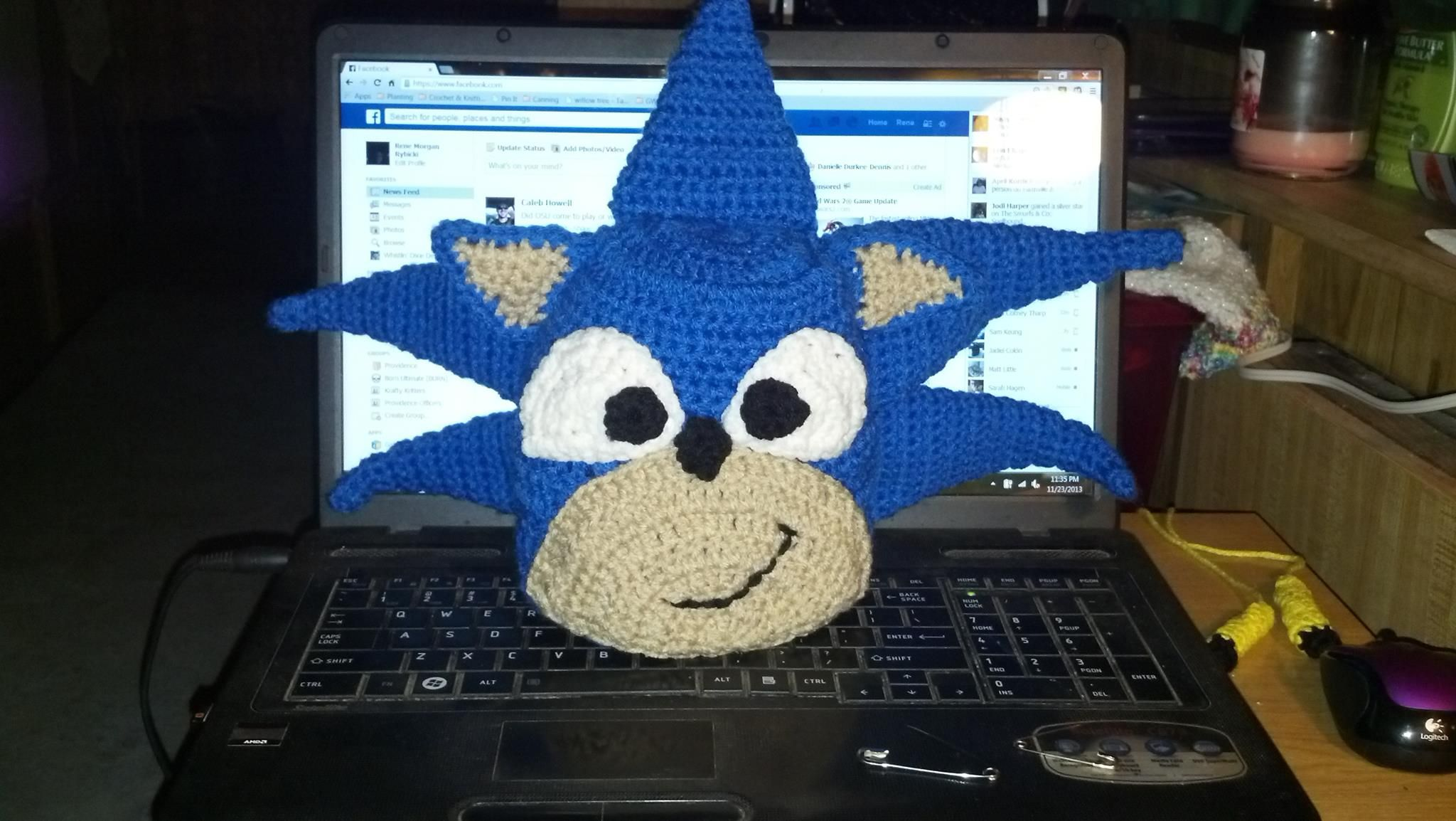 Sonic the Hedgehog Hat Pattern
