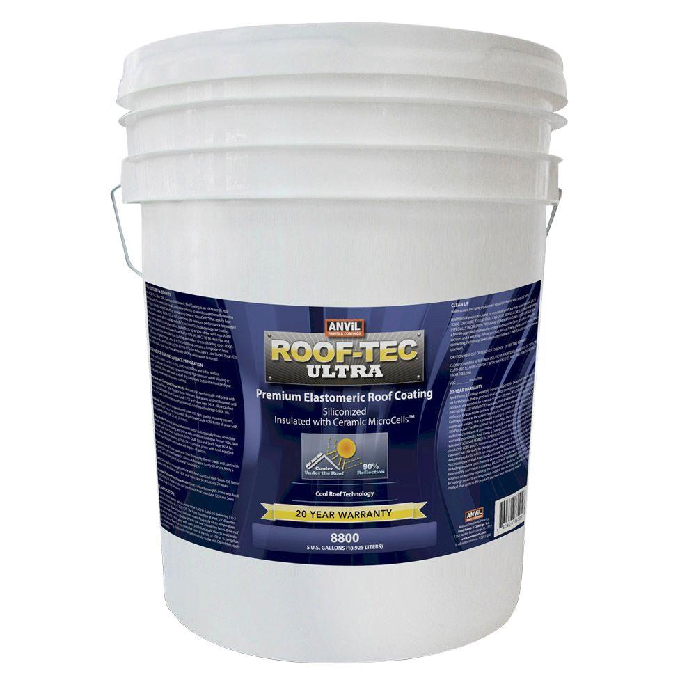 Ultra 5 Gal Siliconized And Microcell Elastomeric White Roof Coating Roof Coating Elastomeric Roof Coating Roof