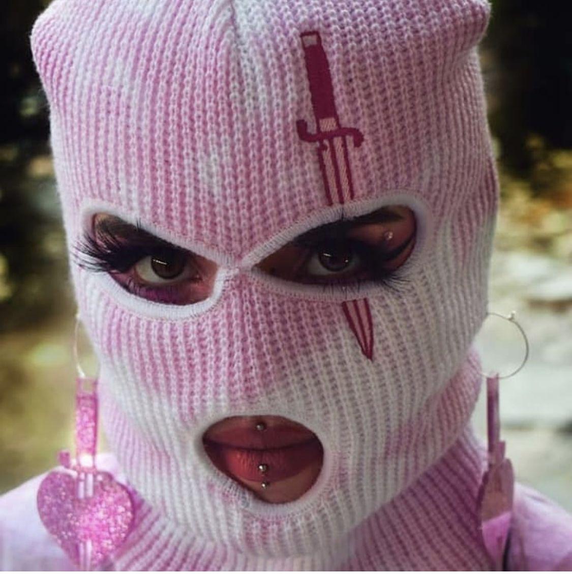 Baby Pink Ski Mask In 2020 Pink Halloween Costumes Baby Pink Ski Mask