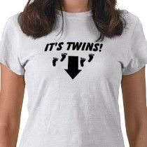 Twin maternity tee