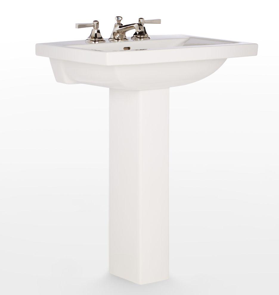 Modern Square Pedestal Sink Pedestal Sink Sink Vanity Sink