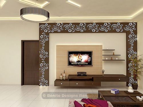 Sujithliv3 bonito tv units and tvs for Lcd wall unit designs for hall