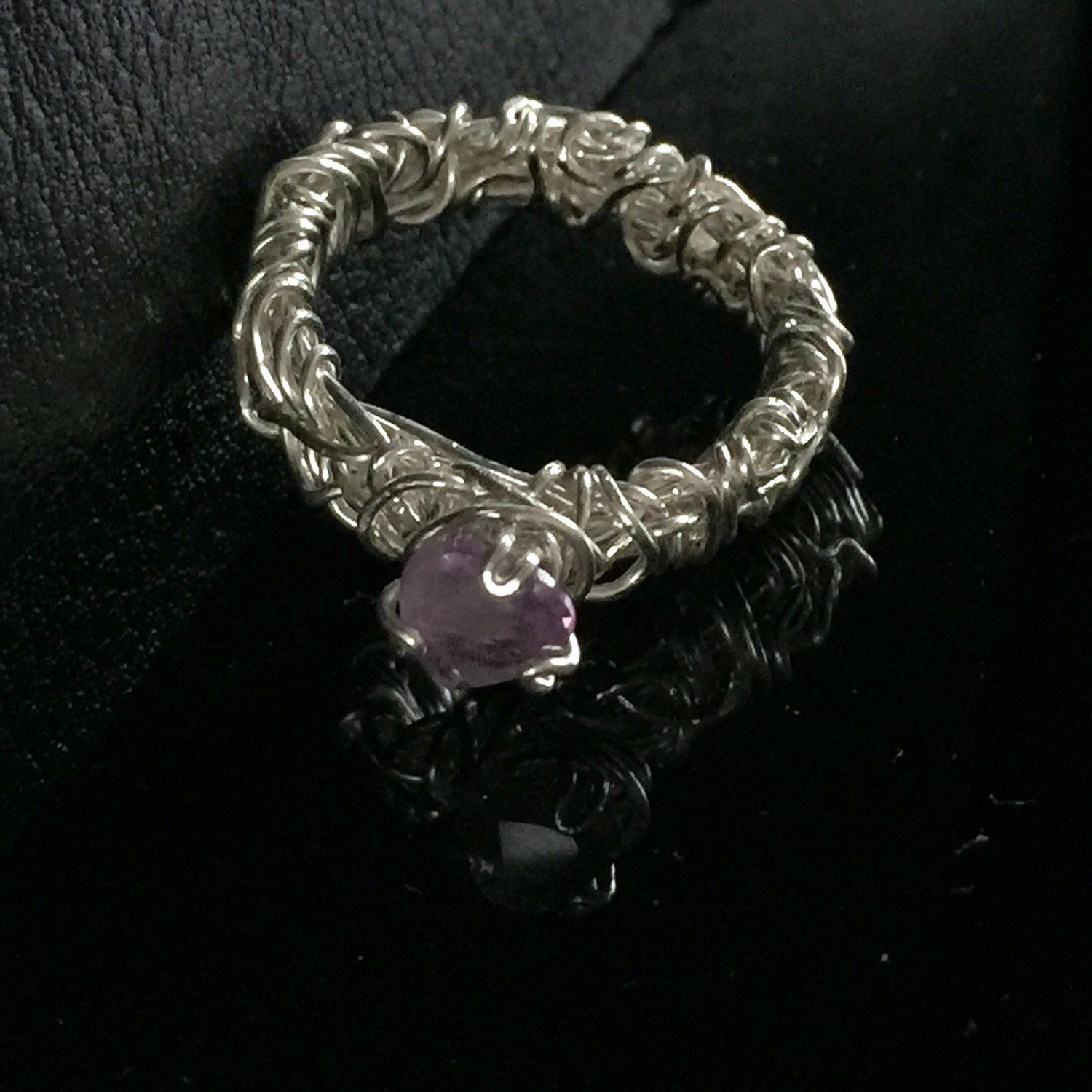 Spring SALE Amethyst Engagement Ring Unique Engagement Ring