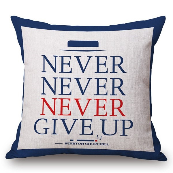 8.93$  Buy now - http://ditfq.justgood.pw/go.php?t=185846401 - Simple English Letter Pattern Square Shape Pillowcase