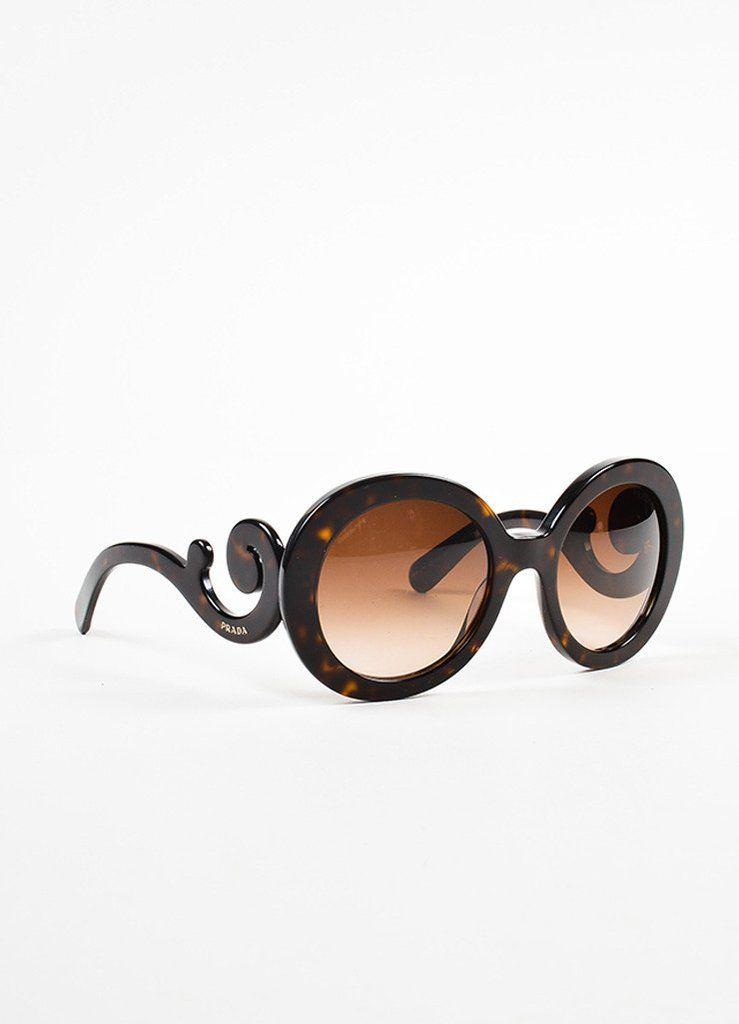 dd262f6925a Prada Havana Tortoise Brown Swirl Round Frame