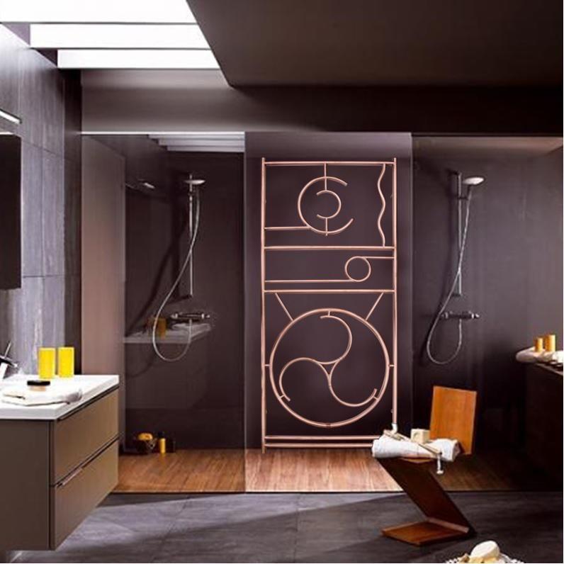 sèche serviette en cuivre verni sur mesure design modèle unique - porte serviette salle de bain design