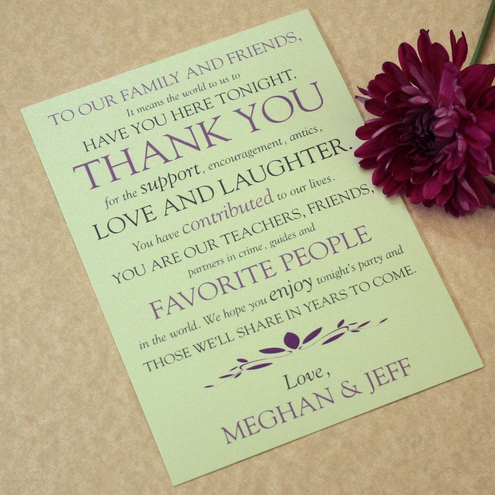 Wedding Place Setting Thank You Cards Text Play Design Deposit
