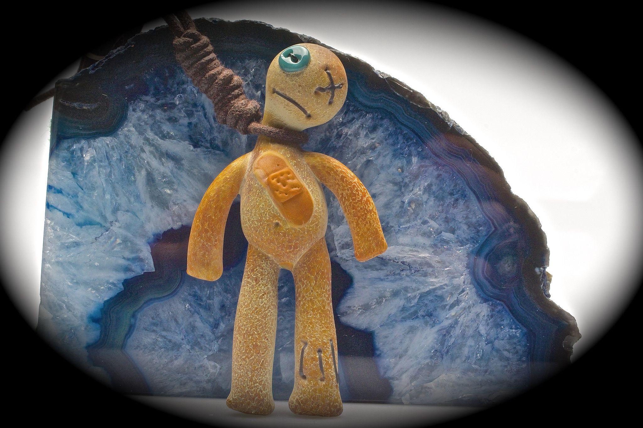 """Peter Muller """"Happy Hangman"""" VooDoo Doll Pendant $ 450"""
