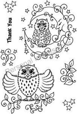 Picture of Clear Stamp Thank You Owl