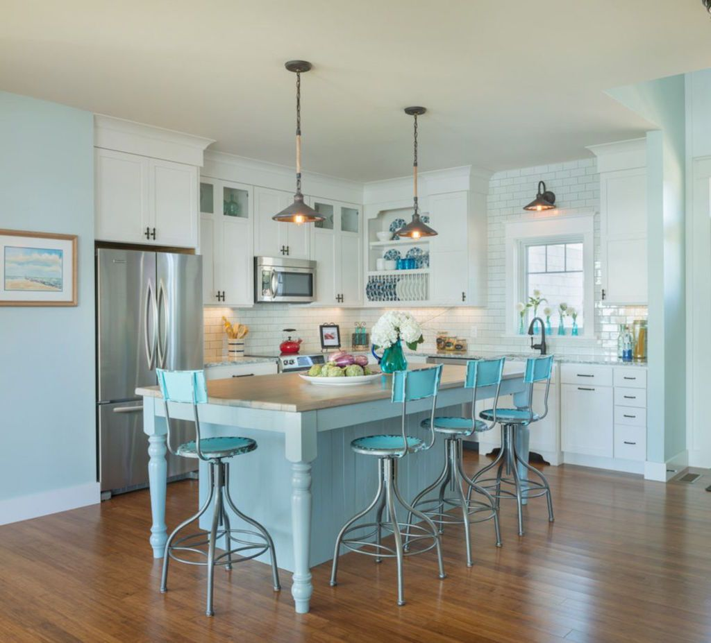 Check Out 20 Amazing Beach Inspired Kitchen Designs. A Coastal Kitchen Is A  Fantastic Peaceful