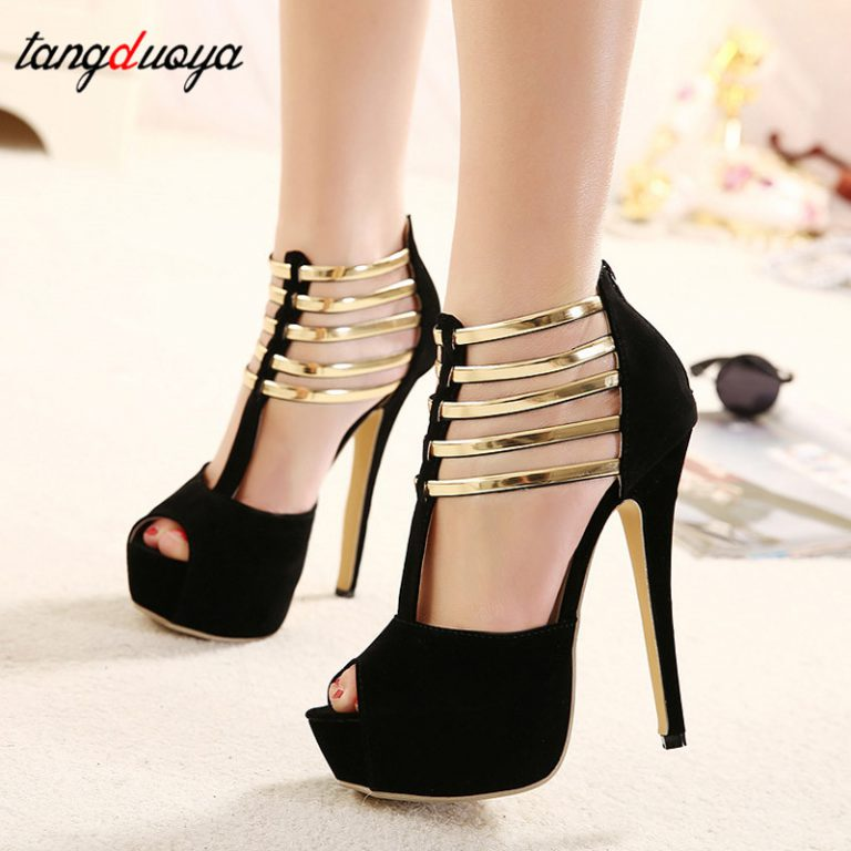 Pumps Black Red Shoes Woman High Heel Shoes