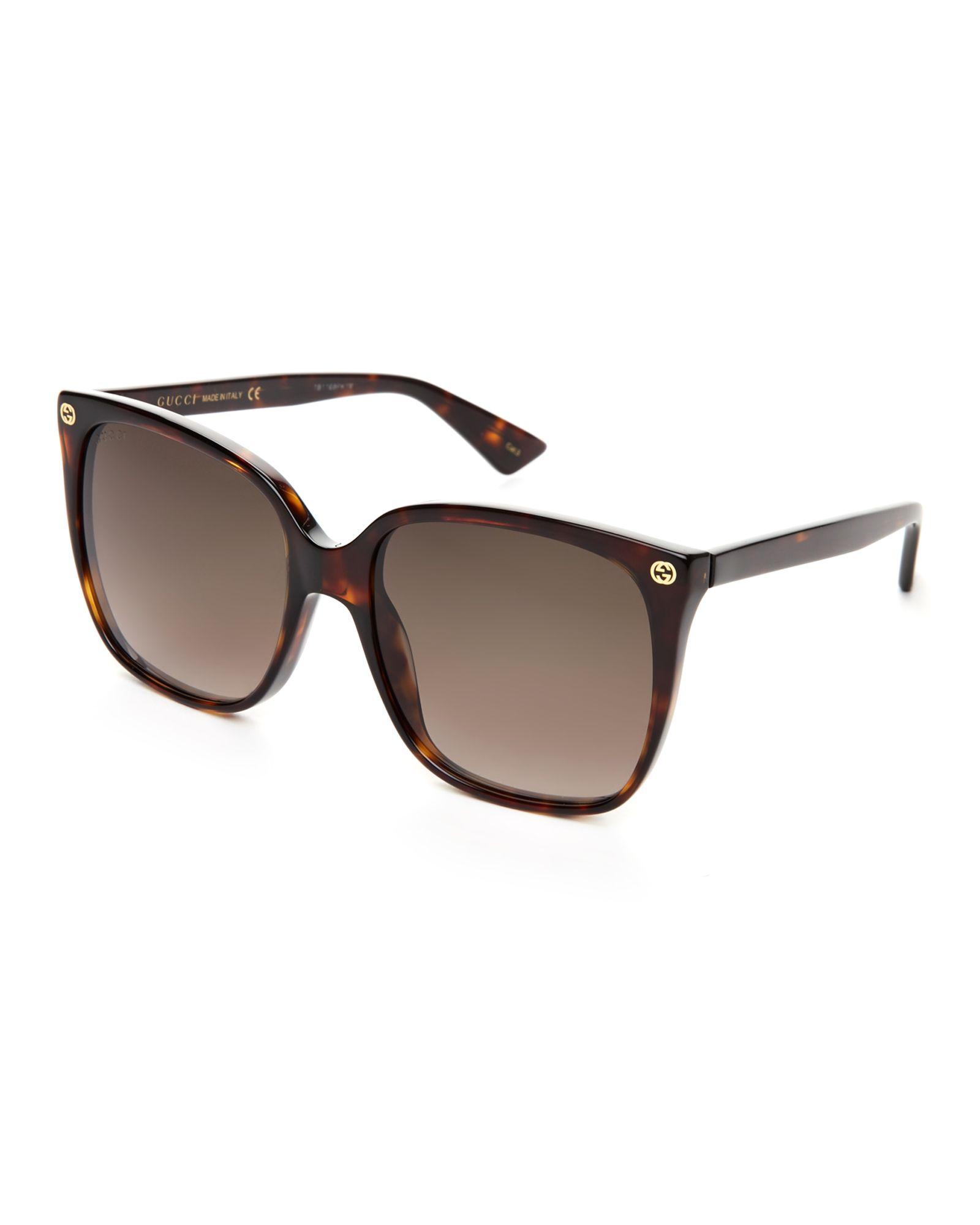 Gucci Gg 0022 S Tortoiseshell Look Xl Square Sunglasses Fashion Eye Glasses Square Sunglasses Sunglasses