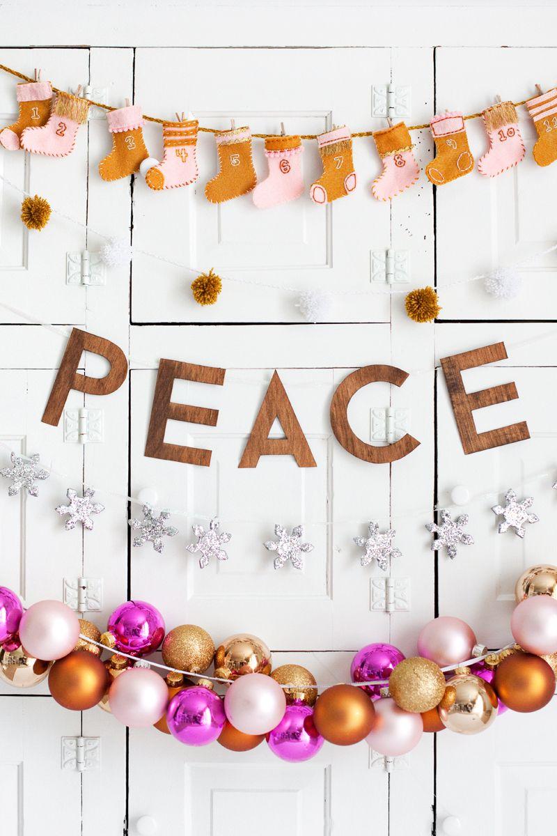 diy: five homemade holiday garlands | wonderful christmas time, Hause ideen