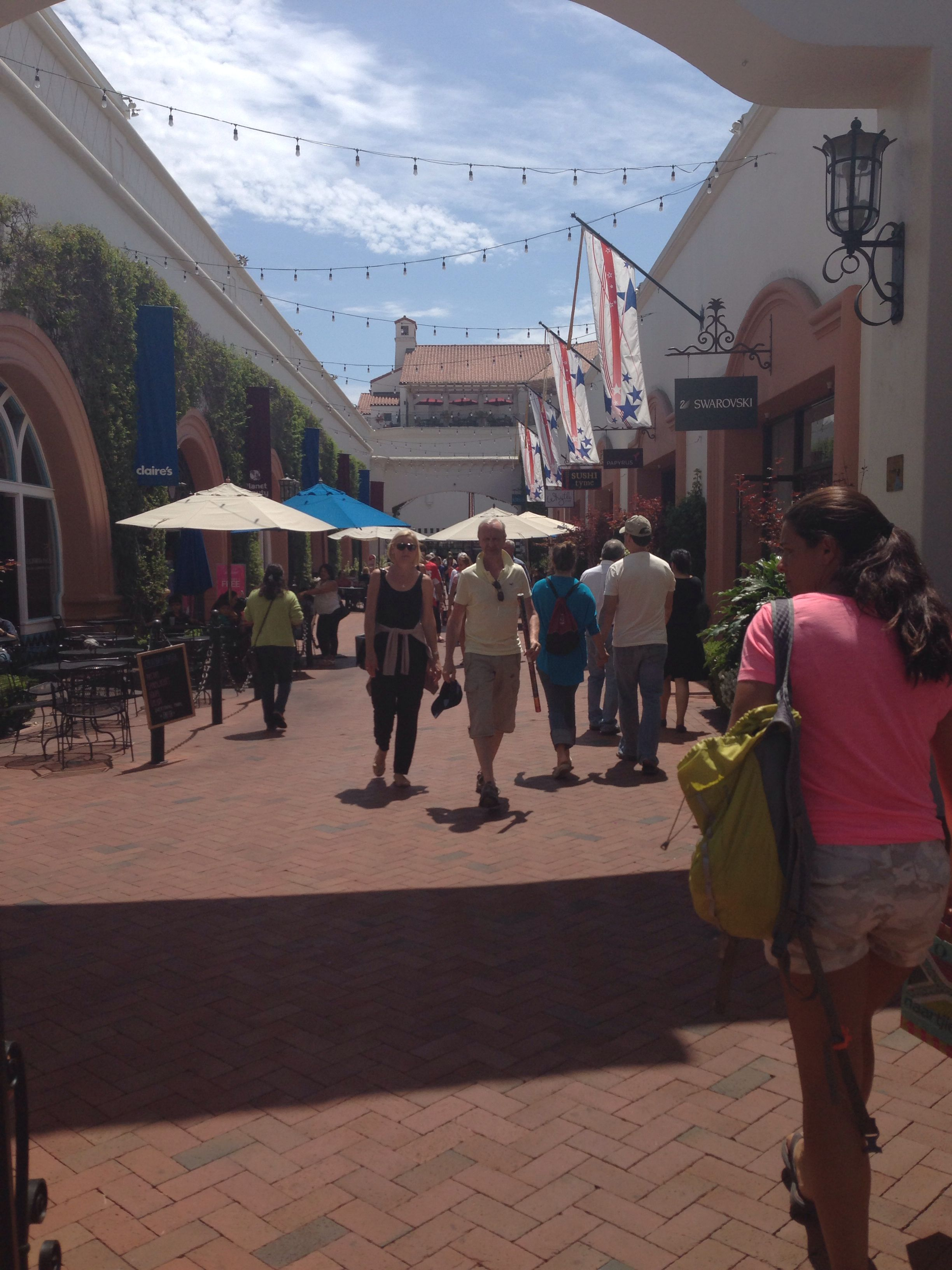 Paseo Nuevo Mall with sweet shops in SB Lompoc, Trip