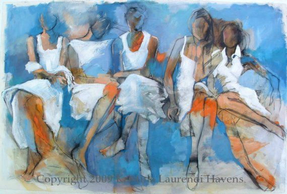 Fine Art Print  Women in White Dresses with by Krystyna81 on Etsy, $18.00