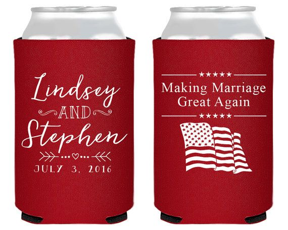 Republican Wedding Making Marriage Great Again Fun Wedding Favor 4th ...