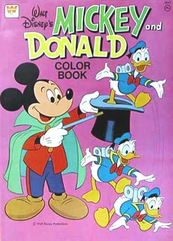 Mickey And Donald Coloring Book Whitman 1976 Disney Coloring