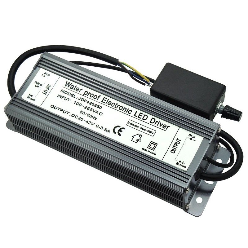 Ip67 Waterproof 150w Dimmable Led Driver 30 42v 0 3 5a Lighting Transformers Led Drivers Dimmable Led Led