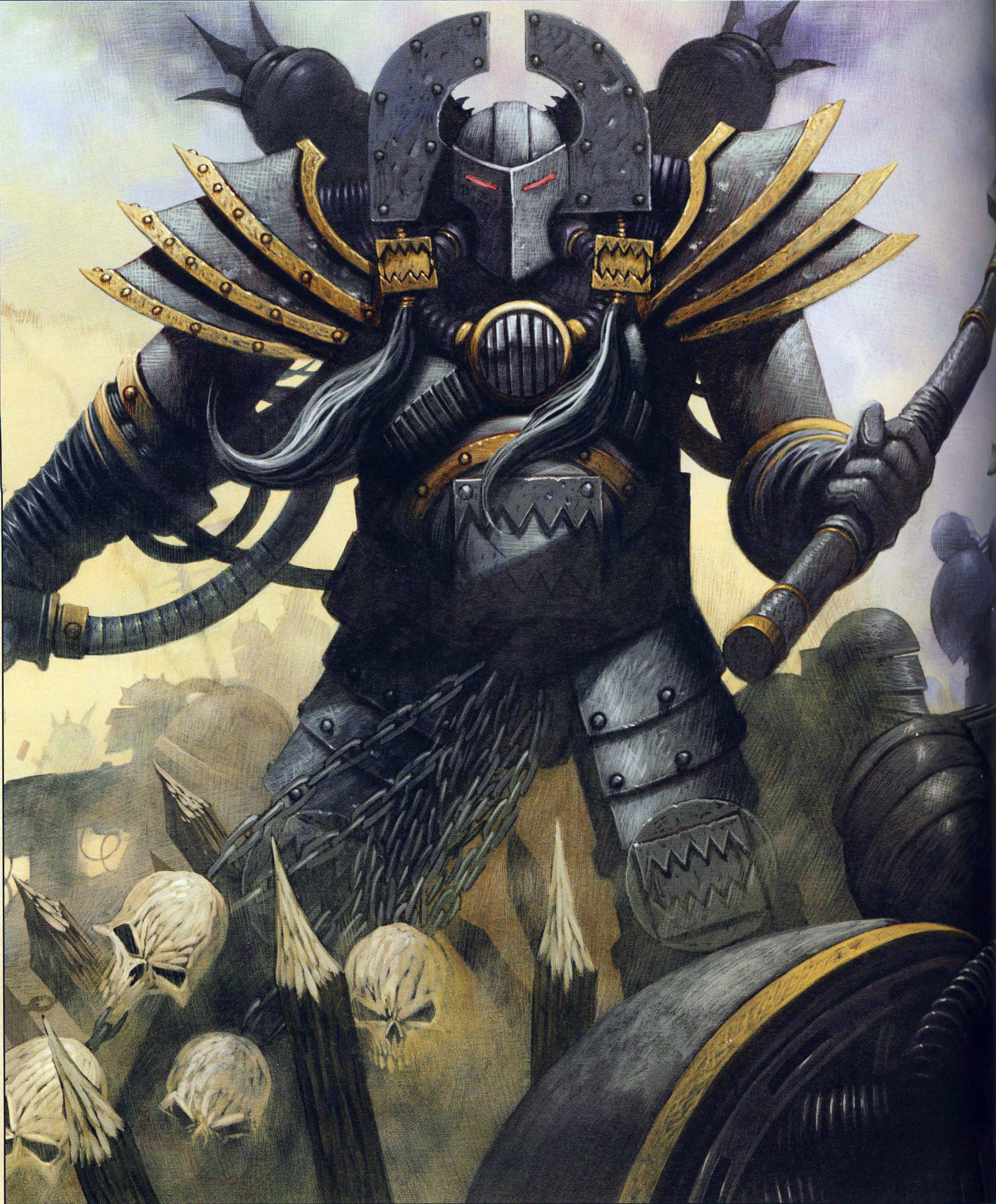 Kharn (not quite yet the Betrayer) Horus Heresy card art