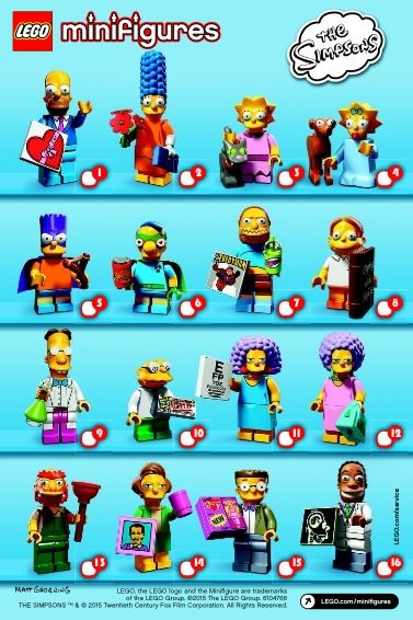 View Lego Instructions For Lego Minifigures The Simpsons Series Set