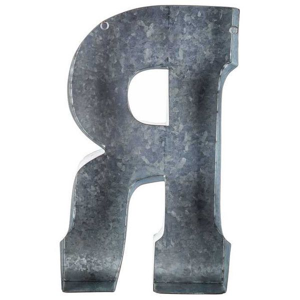 Large Metal Letter R Put A Vintageinspired Spin On Monogram Letters Using This Stylish