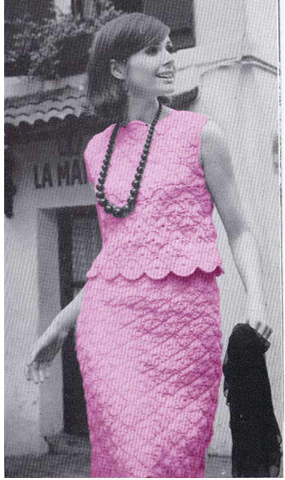 CROCHET DRESS PATTERN Vintage 70s The Paris Touch by Liloumariposa ...