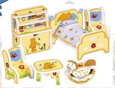 Muebles cart n para casitas de mu ecas habitaci n de los for Casitas para ninos