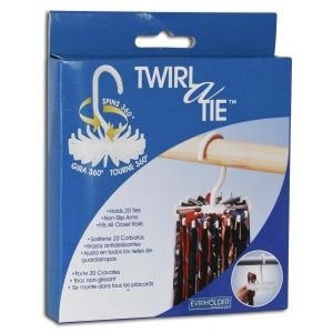 It's never too early to buy dad that sweet tie rack for Christmas. #weeklyclearance  Twirl a Tie is a stylish spinning tie holder that holds up to 2...