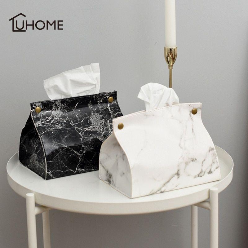 Car Decoration Leather Napkin Bag Tissue  Storage Box Organizer Paper  Cover