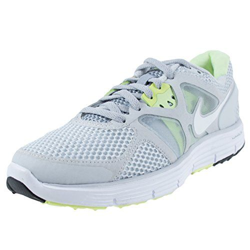 NIKE WOMENS LUNARGLIDE 3 BREATHE PURE PLATINUM WHITE WOLF GREY LIME 510802  010 ***