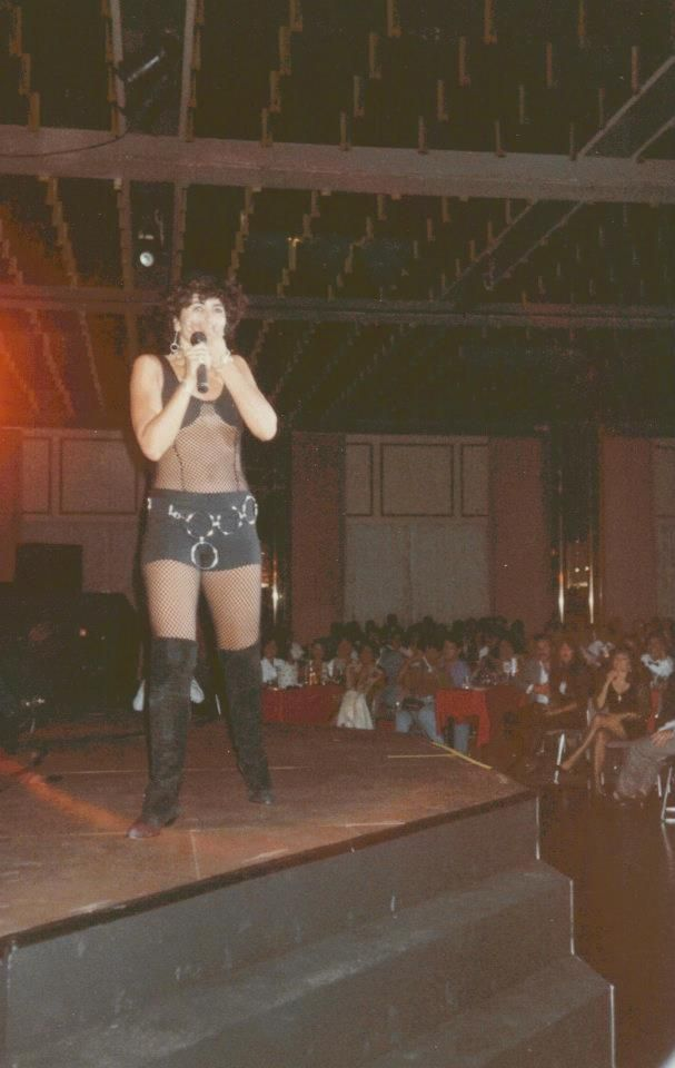 This is Maria Conchita Alonso in concert at the Caribe Hilton ...