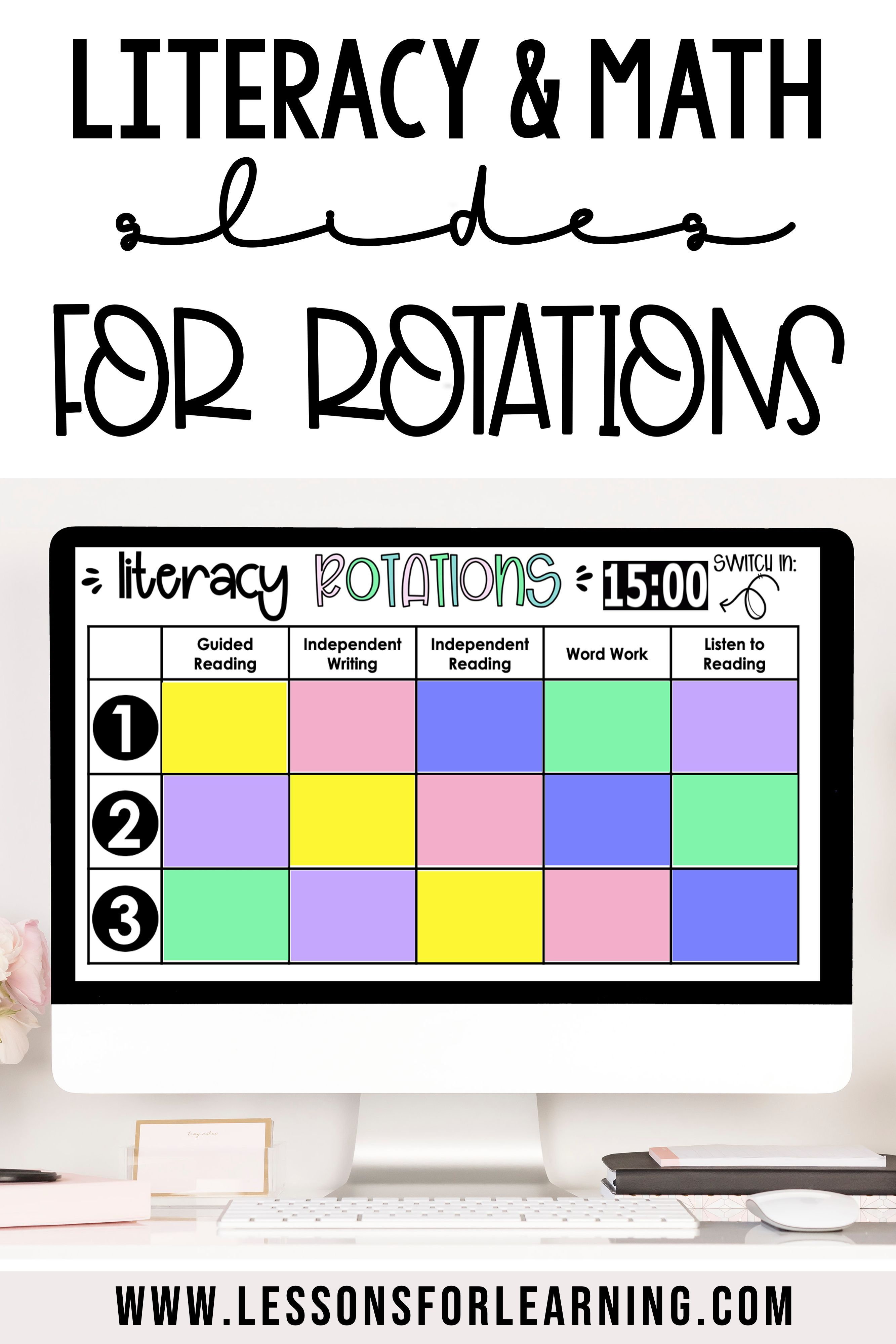 Editable Small Group Rotation Schedule For Literacy And Math Centres Guided Math Rotations Math Rotation Board Guided Math [ 3999 x 2666 Pixel ]