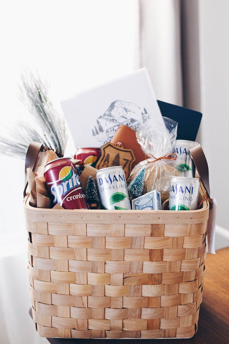 Road Trip Lover's gift basket. client MyHolidayEveryday