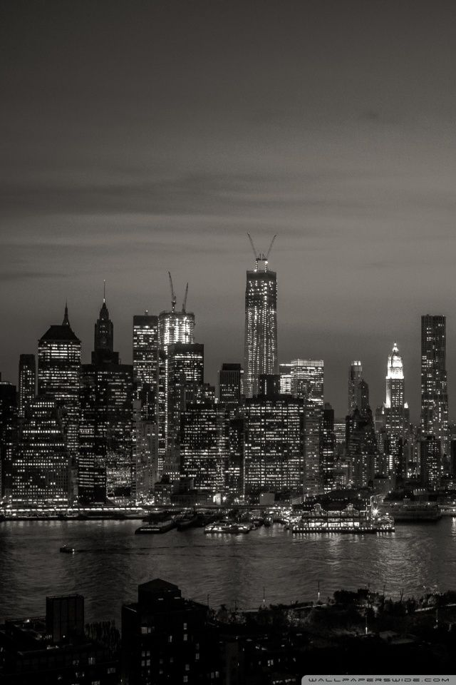 New York Black And White Wallpaper In 2019 Black White