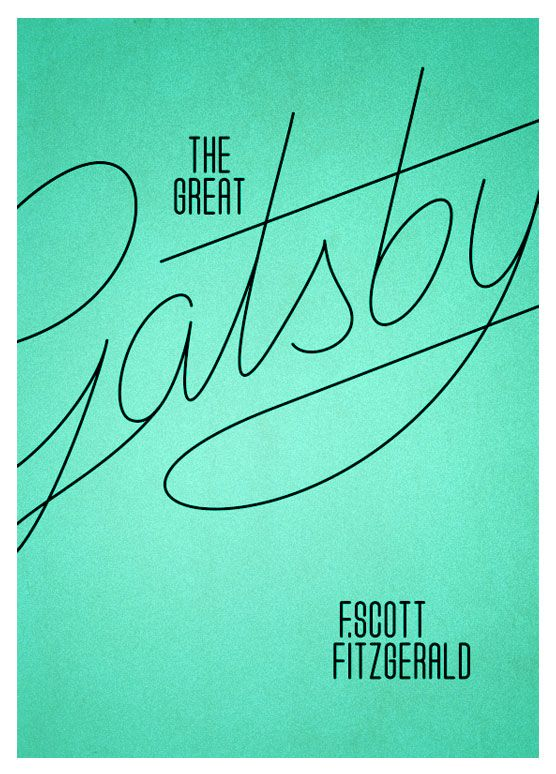 A copy of the Great Gatsby I would buy Designery / Typographee