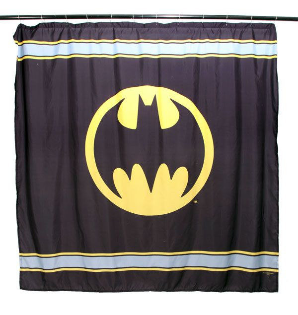 DC Comics Batman Logo Shower Curtain