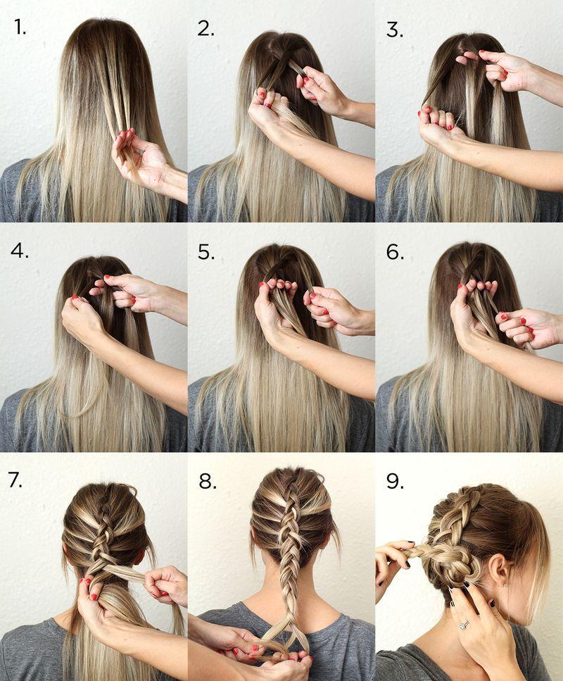 How To Style A Simple Dutch Braid - Vlechten voor lang haar ...