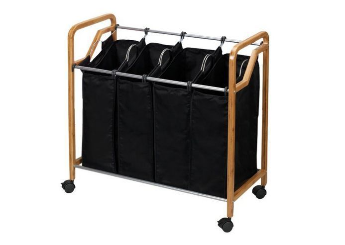 Household Essentials Quad 4 Bag Laundry Sorter Removable Washable