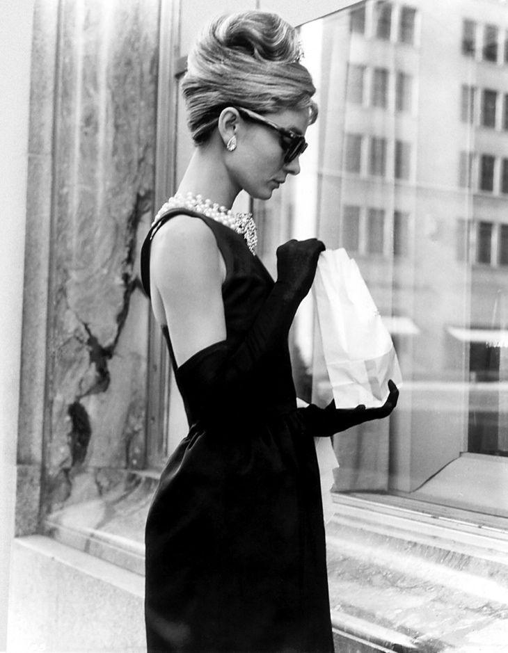 Audrey Hepburn Wears The Famous Little Black Dress Designed By