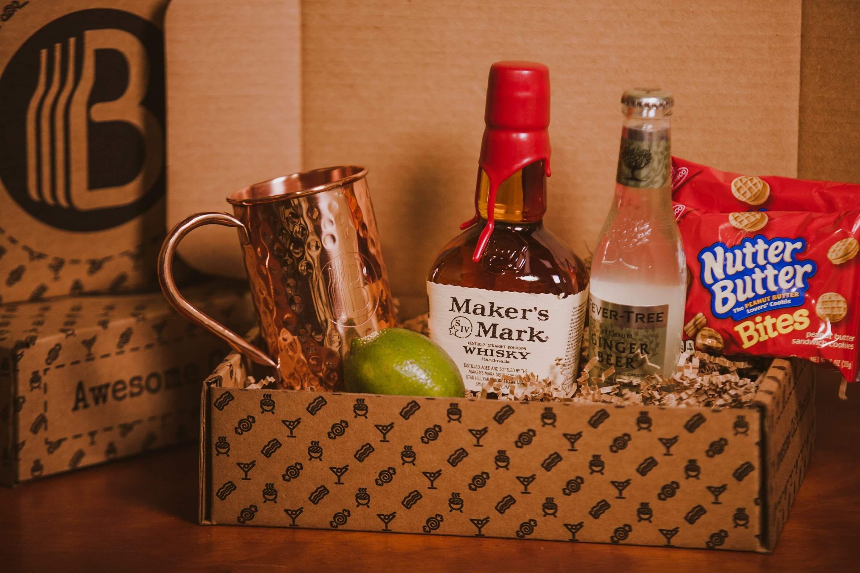 Kentucky mule brobox whiskey gifts gift baskets for men